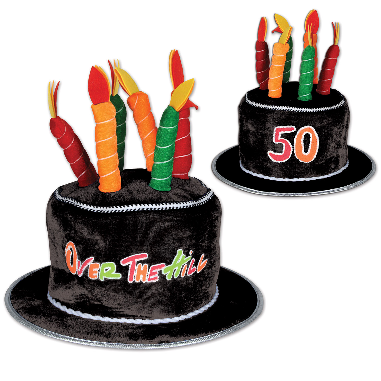 Details About OVER THE HILL 50TH BIRTHDAY NOVELTY TOP HAT PARTY CELEBRATION